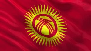 stock-footage-flag-of-kyrgyzstan-gently-waving-in-the-wind-seamless-loop-with-high-quality-fabric-material