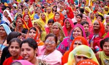 A crowd of women in India