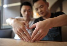 homosexual-chinese-men-rings-heart-hands