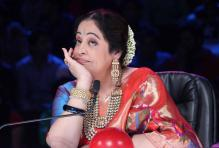 Actress Kirron Kher during the promotion of film Queen on the sets of India`s Got Talent Season 5 in Mumbai on  23rd February 2014. (Photo: IANS)